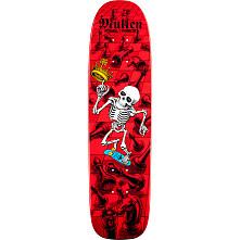 Bones Brigade® Mullen Chess Reissue Skateboard Deck Red - 7.4 x 27.625