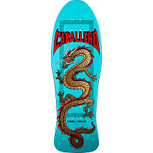 Powell Peralta Caballero Chinese Dragon Skateboard Blem Deck Turquoise - 10 x 30