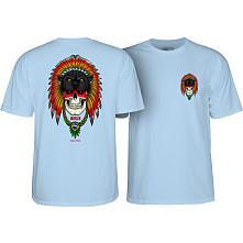 Powell Peralta Kelvin Hoefler Skull T-Shirt Powder Blue