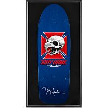 Bones Brigade® Shadowbox Hawk Blem Skateboard Deck Blue - Signed by Tony