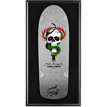 Bones Brigade® Shadowbox McGill Blem Skateboard Deck Silver - Signed by Mike