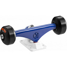 "Mini Logo Truck Assembly - 7.63"" Split Navy/White - ML Bearings - 53mm 90a Black Wheels"