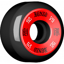 BONES WHEELS 100's 52x30 V5 Skateboard Wheels 100A Black 4pk