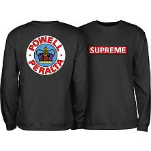 Powell Peralta Supreme Midweight Crewneck Sweatshirt - Black