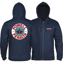 Powell Peralta Hooded Zip Sweatshirt Supreme Logo Navy