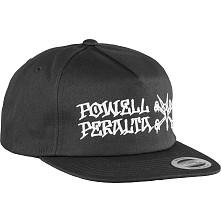 Powell Peralta Rat Bones Snapback Cap Black