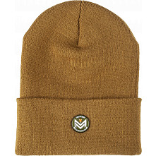 Mini Logo Beanie w/Chevron Pin Duck Brown