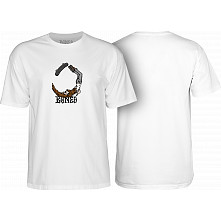 BONES WHEELS T-shirt Hipster White