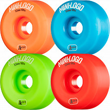 Mini Logo Skateboard Wheels A-cut 53mm 101A Assorted 4pk