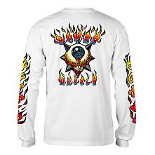 BONES WHEELS Iron Sun L/S Shirt White