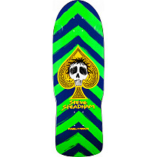 Powell Peralta Steadham Skull and Spade Skateboard Deck Green/Navy - 10 x 30.125