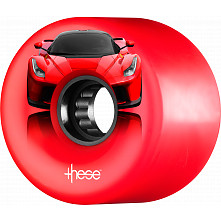 these wheels ATF supercar 327 59mm 80a Red (4pk)
