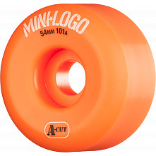 Mini Logo Skateboard Wheels A-cut 54mm 101A Orange 4pk