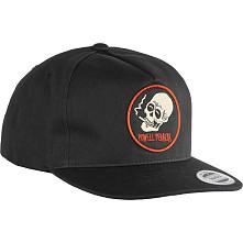 Powell Peralta Smoking Skull Snapback Cap Black