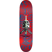 Powell Peralta Rodriguez Skull and Sword Skateboard Blem Deck Red - 9 x 32.95