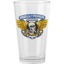 Powell Peralta Pint Glass Winged Ripper Blue