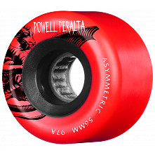 Powell Peralta Asymmetric Wheel 56mm 97a Red 4pk