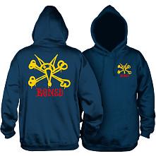 Powell Peralta Rat Bones Hooded Sweatshirt Navy