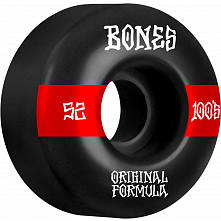 BONES WHEELS OG Formula Skateboard Wheels 100 #14 52mm V4 Wide 4pk Black