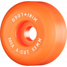 "Mini Logo Skateboard Wheels A-cut ""2"" 53mm 101A Orange 4pk"