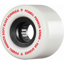 Powell Peralta Snakes Skateboard Wheels 69mm 75a 4pk White