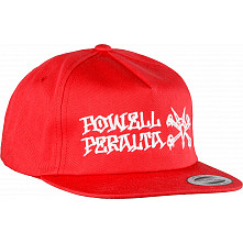 Powell Peralta Rat Bones Snap Back Cap Red