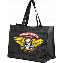 Powell Peralta Winged Ripper Shopping Bag Non Woven Black 12x16