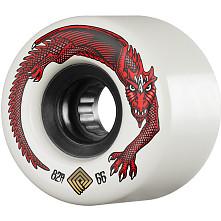 Powell Peralta DragonSkin Skateboard Wheel 66mm 82A White 4 pk