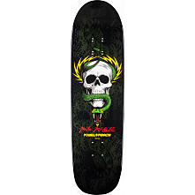 Powell Peralta McGill Snake Skin Fun Shape 2 Skateboard Deck Black/Green - 8.97 x 32.38