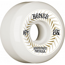 BONES WHEELS SPF Skateboard Wheels Spines 60mm P5 Sidecut 81B 4pk White