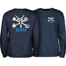 Powell Peralta Rat Bones Midweight Crewneck Sweatshirt - Navy