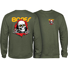 Powell Peralta Ripper Midweight Crewneck Sweatshirt - Army Heather