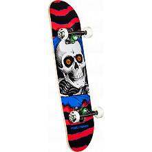 Powell Peralta Ripper One Off Red Complete Skateboard - 7.5 x 28.65