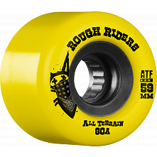 BONES WHEELS Rough Riders Yellow 59mm 4pk