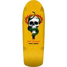 Powell Peralta mcGil Skull and Snake Skateboard Deck Yellow - 10 x 31.125