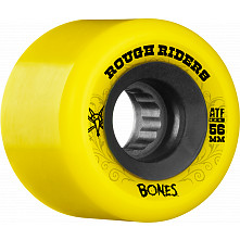 BONES WHEELS Rough Riders 56mm Yellow Wheel 4pk