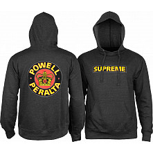 Powell Peralta Classic Supreme Lightweight Hooded Sweatshirt Charcoal