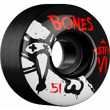 BONES WHEELS STF V1 Series 51mm Black(4 pack)