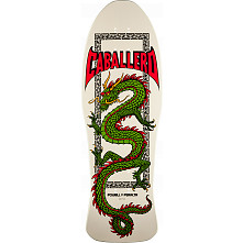 Powell Peralta Caballero Chinese Dragon Blem Skateboard Deck Bone White