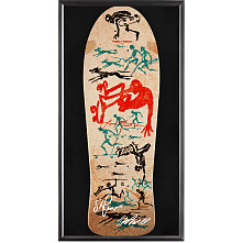 Bones Brigade® Shadowbox Mountain Blem Skateboard Deck Signed by by George Powell and Stacy Peralta