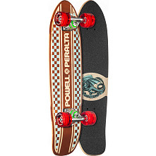 Powell Peralta Sidewalk Surfer Inlay Checker Natural Skateboard Cruiser Assembly - 7.75 x 27.20 WB 14.0
