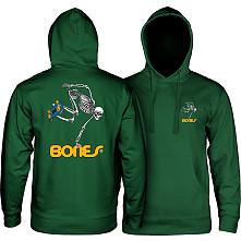 Powell Peralta Sk8Board Skeleton Hooded Sweatshirt Mid Weight Alpine Green