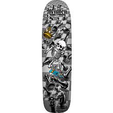 Bones Brigade Mullen Blem Skateboard Deck Silver - Signed by Rodney