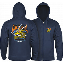 Powell Peralta Cab Street Hooded Zip Sweatshirt - Navy