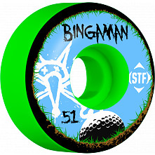 BONES WHEELS STF Pro Bingaman Bogey 51mm Green Wheel 4pk