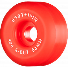 "Mini Logo Skateboard Wheels A-cut ""2"" 53mm 90A Red 4pk"