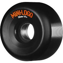 Mini Logo Skateboard Wheels 58mm 101a 4pk Black