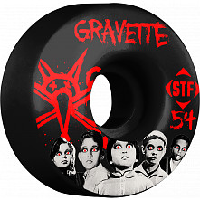BONES WHEELS STF Pro Gravette Seed 54mm Black Wheels 4pk
