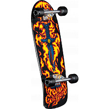 Bones Briagde Guerrero Flaming Dagger Skateboard Assembly Black - 9.6 x 29.18