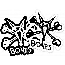 "BONES WHEELS Vato Stacked 12"" single sticker"